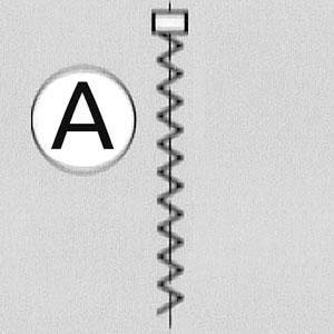 Model A: vrijhangend model voor standaard ramen